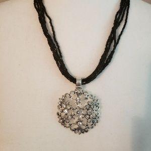 Premier Designs rhinestone pendant necklace